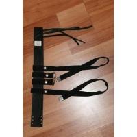 Крепление для охотпромысловых лыж (носочный ремень кожа + пяточный ремень ЛРТ с металлическими наконечникеами КМ010