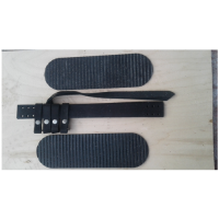 """Комплект креплений для лыж """"Охотничий"""" (кожа носочный и запяточный ремни + накладка резиновая 100 мм на платформу)    КОХ 001/ 1"""